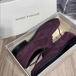 Dark Purple Suede Marc Fisher Loafers W/ Box